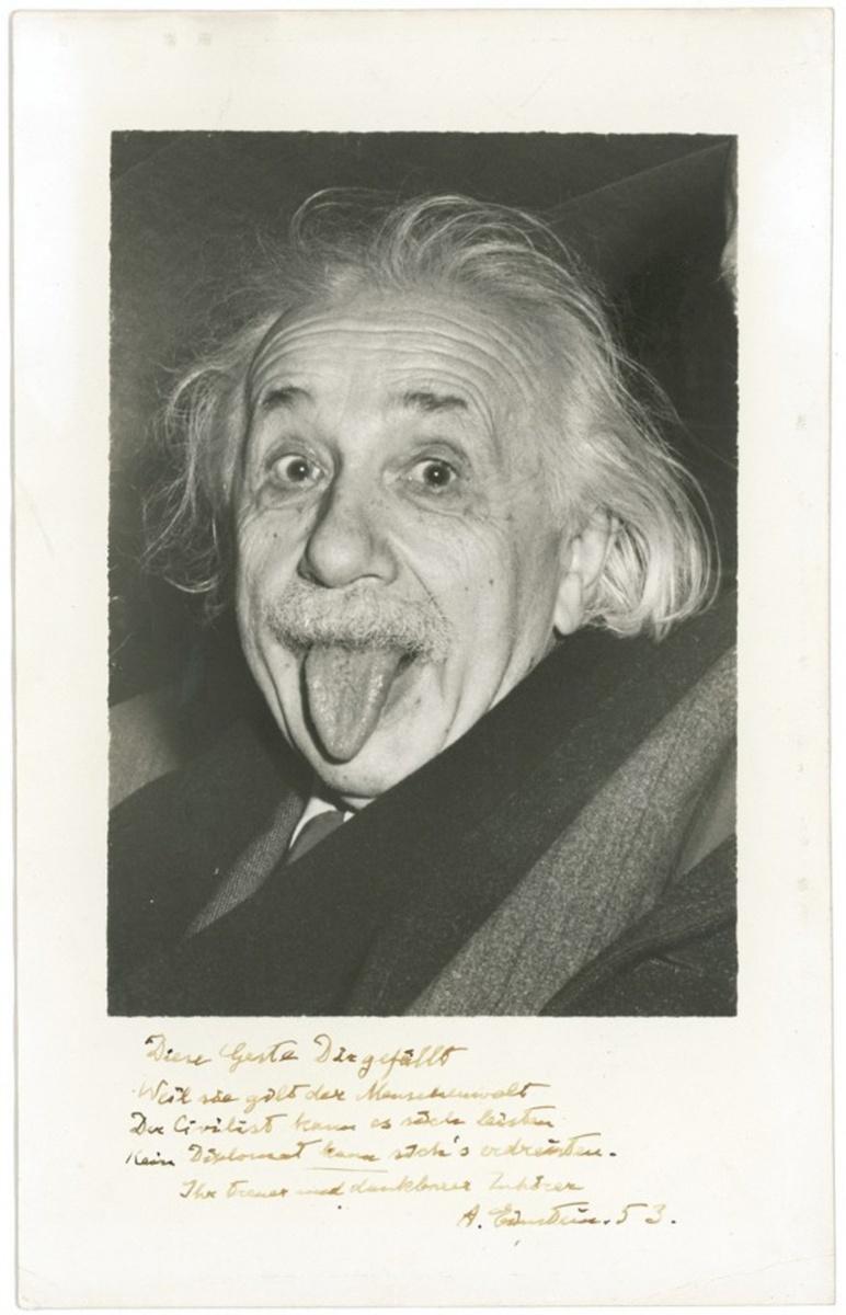 愛因斯坦吐舌頭